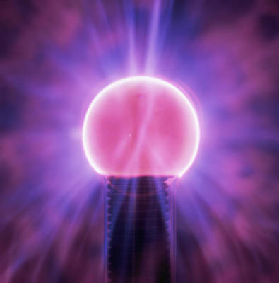 Plasma Globe Poster by Kevin Curtis