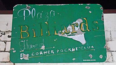 Plaza Billards Poster