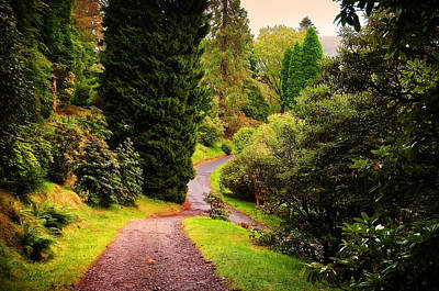 Pleasant Path. Benmore Botanical Garden. Scotland Poster