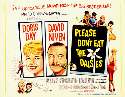 Please Dont Eat The Daisies, Doris Day Poster by Everett