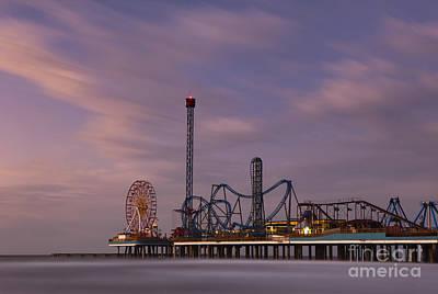 Pleasure Pier Amusement Park Galveston Texas Poster by Keith Kapple