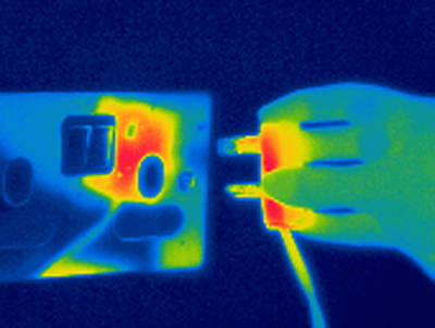 Plug And Socket, Thermogram Poster by Tony Mcconnell