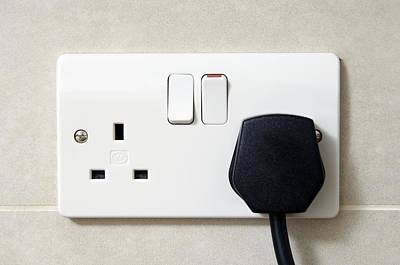 Plug In An Electric Wall Socket Poster by Johnny Greig