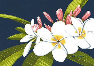Poster featuring the painting Plumeria by Terry Taylor