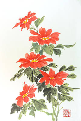 Poinsettias Poster