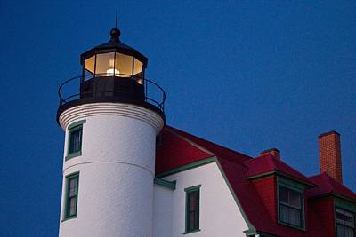 Point Betsie Lighthouse At Dusk Poster