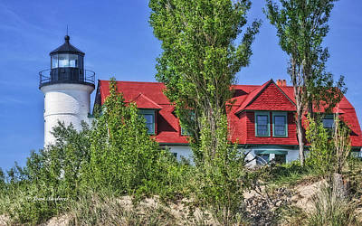 Point Betsie Lighthouse Poster by Joan Bertucci