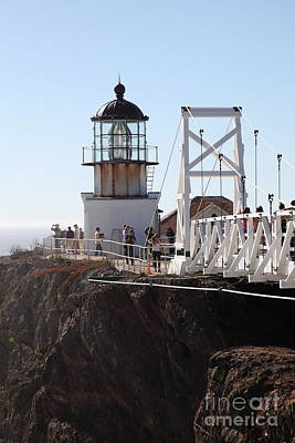 Point Bonita Lighthouse In The Marin Headlands - 5d19667 Poster by Wingsdomain Art and Photography