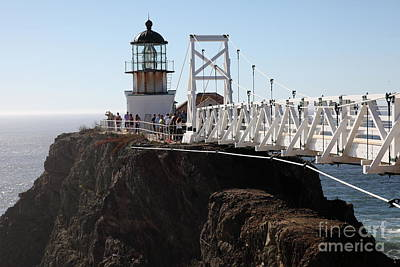 Point Bonita Lighthouse In The Marin Headlands - 5d19671 Poster by Wingsdomain Art and Photography