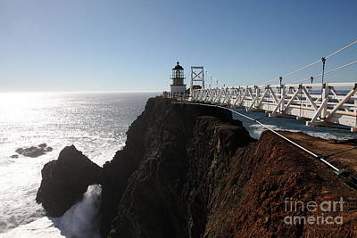 Point Bonita Lighthouse In The Marin Headlands - 5d19673 Poster by Wingsdomain Art and Photography