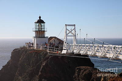Point Bonita Lighthouse In The Marin Headlands - 5d19697 Poster by Wingsdomain Art and Photography