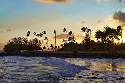 Poipu Sunset Poster by Kelley King