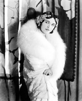 Pola Negri Wearing A White Knee-length Poster by Everett