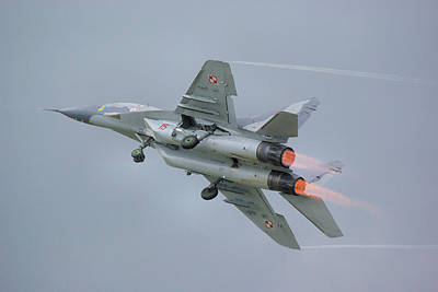 Polish Air Force Mig-29 Poster by Tim Beach