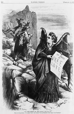Political Cartoon By Thomas Nast Poster by Everett