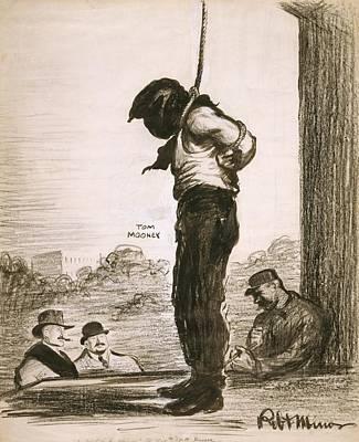 Political Cartoon Showing Tom Mooney Poster