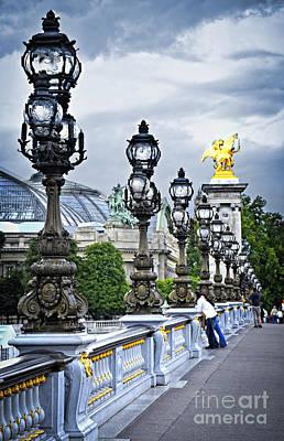 Pont Alexander IIi In Paris Poster by Elena Elisseeva