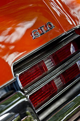 1969 Pontiac Gto Judge Coupe Taillight Emblem Poster by Jill Reger