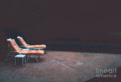 Pool Chairs Poster by David Klaboe