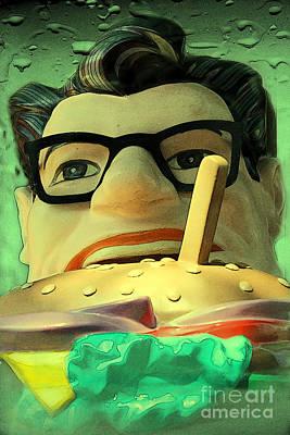 Pop Art Fast Food Guy Poster by Sophie Vigneault