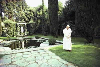 Pope John Paul II Walks Alone Poster by James L. Stanfield