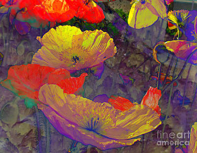 Poster featuring the mixed media Poppies by Irina Hays
