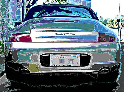 Porsche Carrera Rear Study Poster by Samuel Sheats