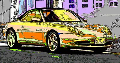 Porsche Carrera Study 4 Poster