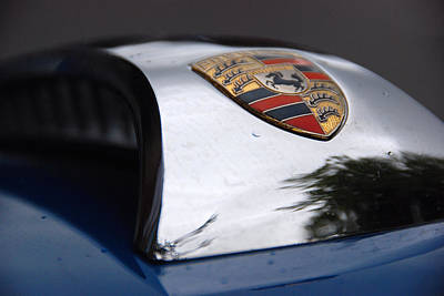Poster featuring the photograph Porsche Super 90 Marque by John Schneider