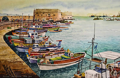 Port Of Heraklion Poster
