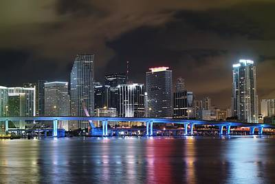 Poster featuring the photograph Port Of Miami Downtown by Gary Dean Mercer Clark