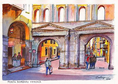 Porta Borsari Verona  First Century Ad Roman Gate Poster by Dai Wynn
