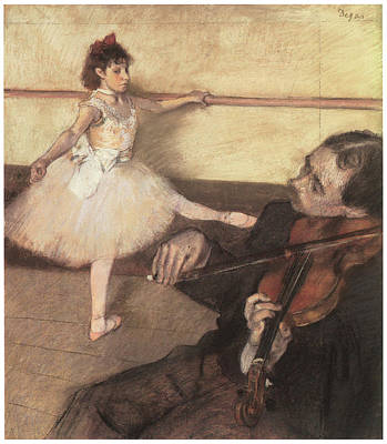 Portrait Of A Dancer At Her Lesson Poster