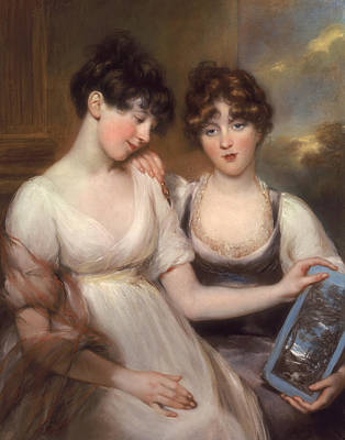 Portrait Of Anne And Maria Russell Poster by John Russell