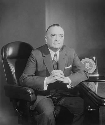 Portrait Of Fbi Director J. Edgar Poster