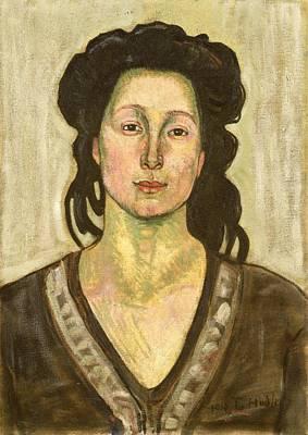 Portrait Of Jeanne Cerani Poster by  Ferdinand Hodler