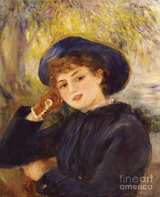 Portrait Of Mademoiselle Demarsy Poster by Pierre Auguste Renoir