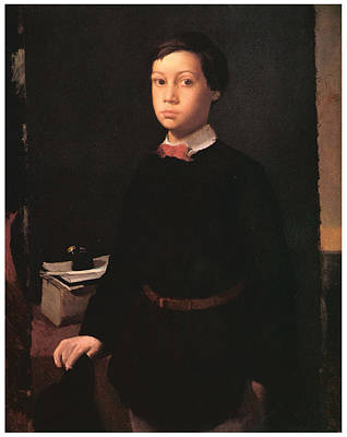 Portrait Of Rene De Gas Poster by Edgar Degas