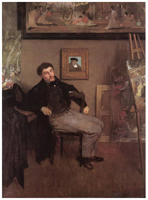 Portriat Of James Tissot Poster by Edgar Degas
