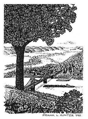 Portsmouth Ohio From A Kentucky Hill Poster by Frank Hunter