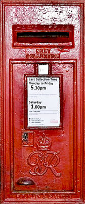 Post Box Poster by Svetlana Sewell