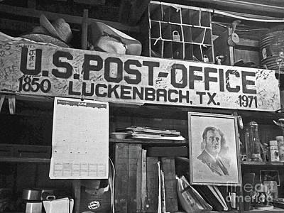 Post Office  Luckenbach Texas Poster by Joe Jake Pratt