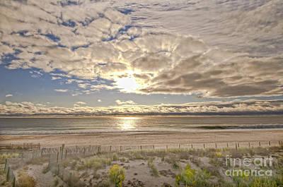 Post-tourist Sunrise Ocean City Poster by Jim Moore