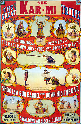 Poster For Stage And Magic Show, The Poster by Everett