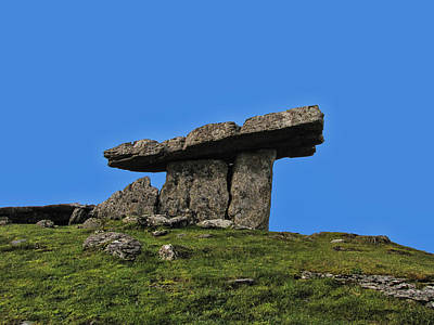 Poster featuring the photograph Poulnabrone Dolmen by David Gleeson