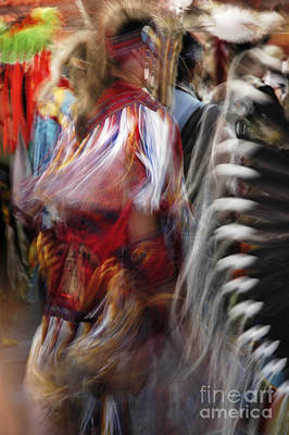 Pow Wow Dancer Poster by Vivian Christopher