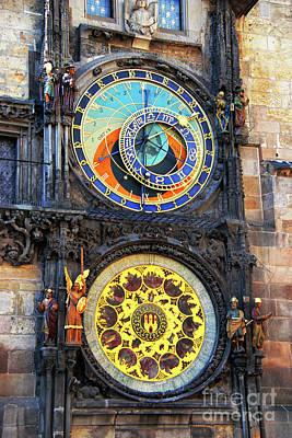 Prague Astronomical Clock 2 Poster by Mariola Bitner