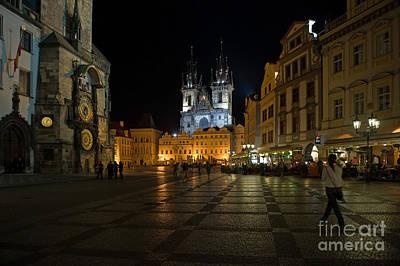 Prague City Square Poster