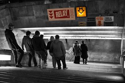 Prague Underground Station Stairs Poster