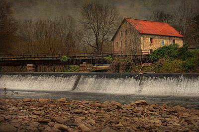Prallsville Grist Mill And The Spillway Poster